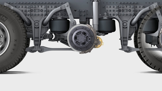 Close up image of the air bellows on GRAS-G2 suspension